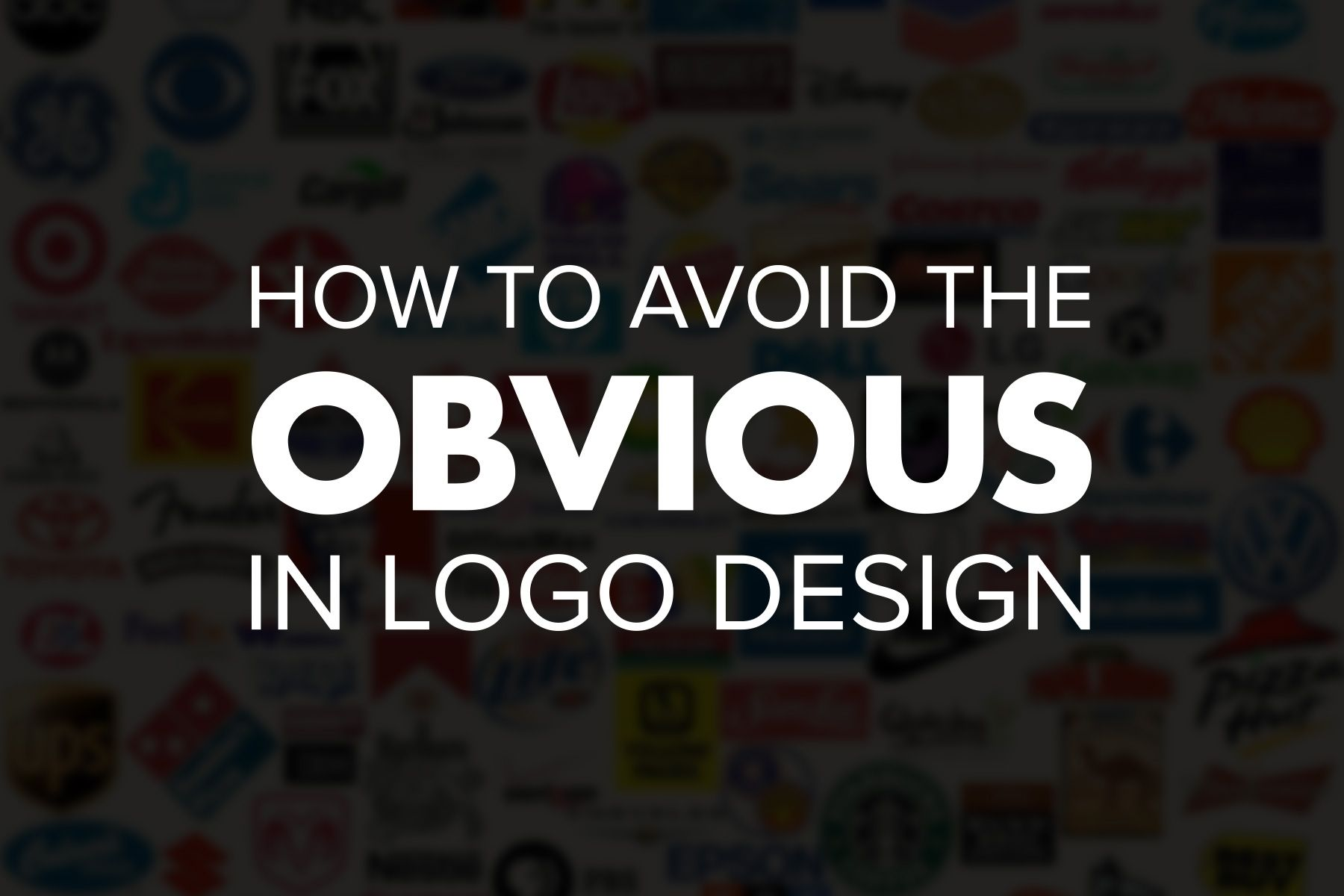 How to Avoid the Obvious in Logo Design